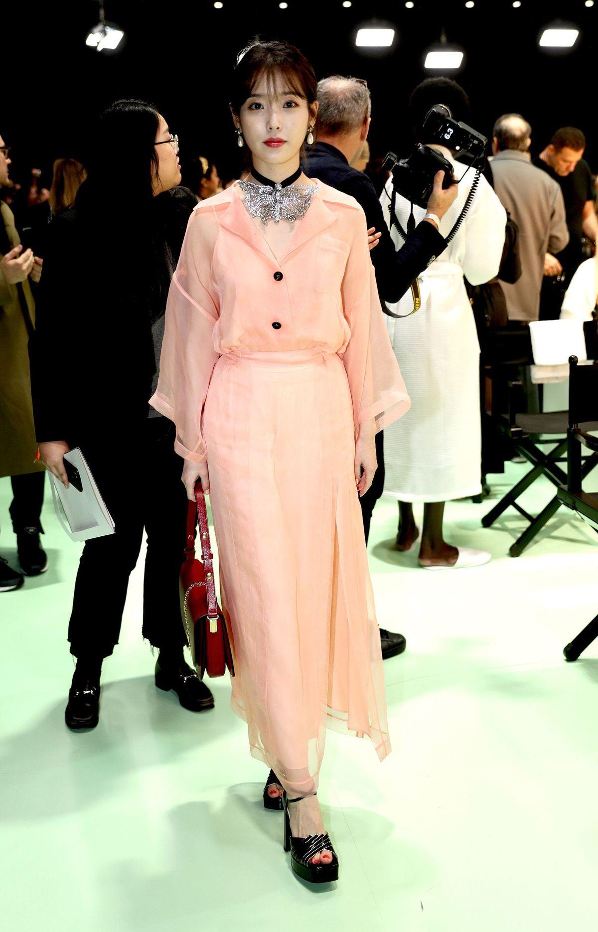 K-Pop Star IU Stole the Show at Gucci's Milan Fashion Week Show