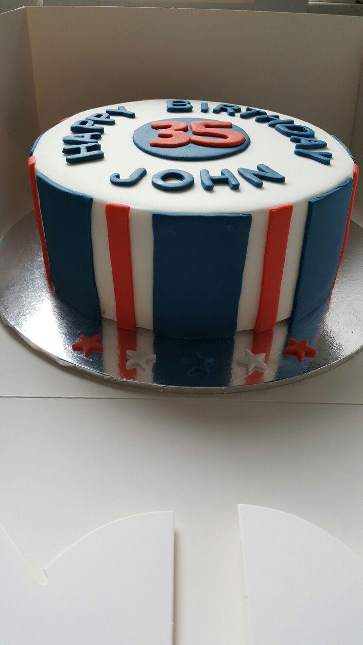 Glasgow Rangers theme cake (With images) | Birthday cake ...