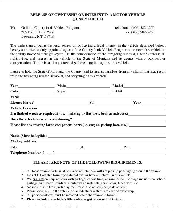 Certificate Of Ownership Template 40 Free Stock Certificate - vehicle release form