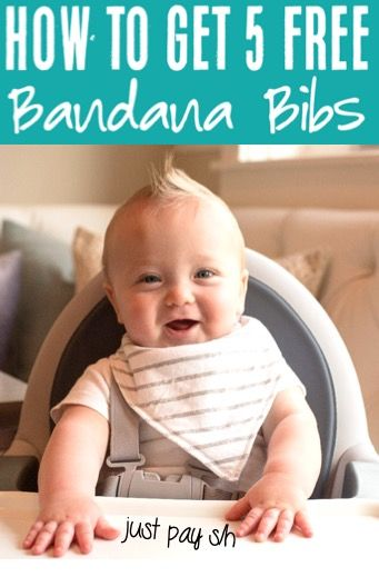 Bandana Bib for Boy or Girl!  These ADORABLE bigs make the cutest gifts for babies or baby showers, too!