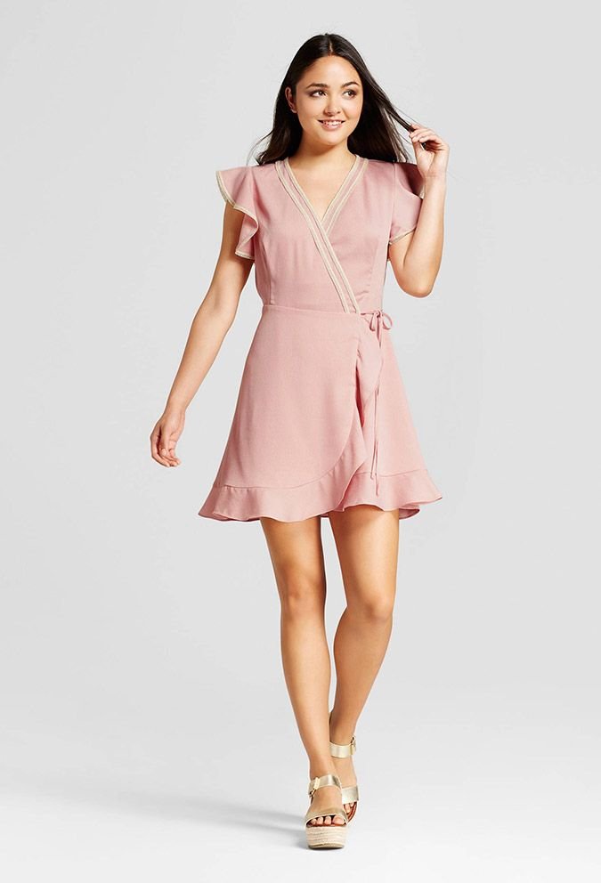 Target blush wrap dress