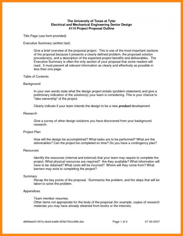 Sample Executive Summary Proposal 20 Executive Summary Templates - one page executive summary template