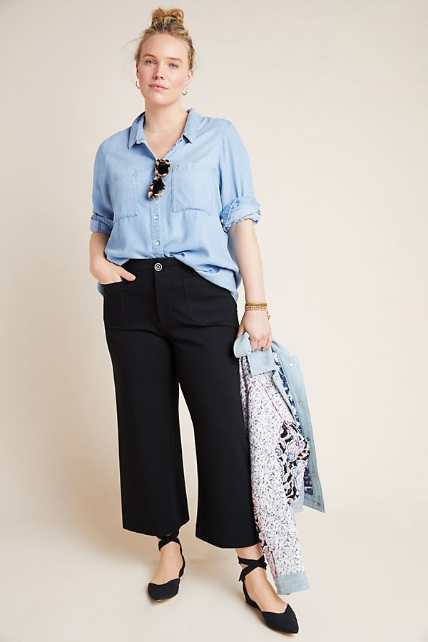 Courtney Cropped Wide-Leg Pants