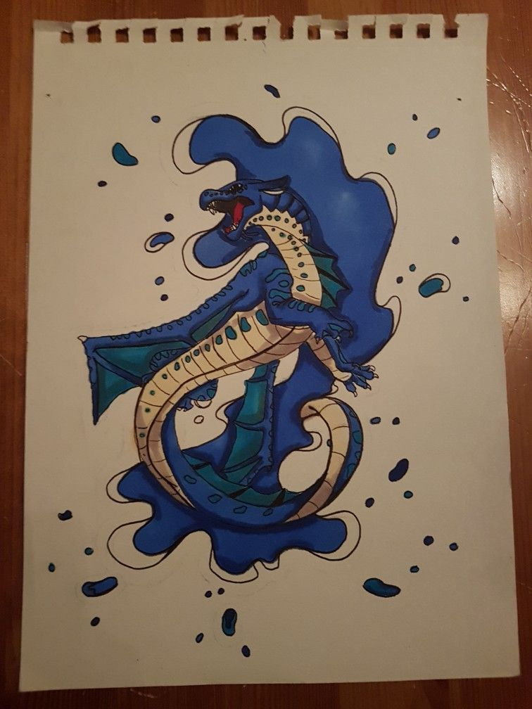 Les Royaumes De Feu Tsunami : royaumes, tsunami, Royaumes, Tsunami, Dessin, Dragon,, Féérique