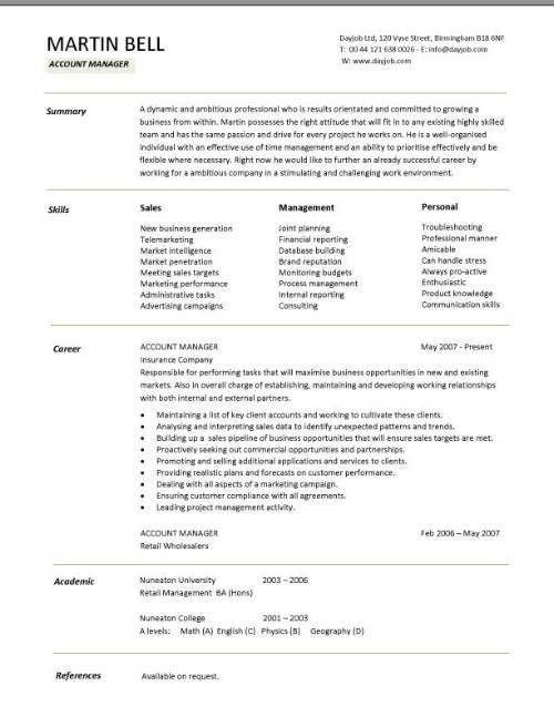 Account Executive Sample Resume Account Executive Resume Example