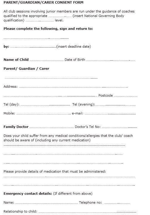 Free Child Travel Consent Form Template  NinjaTurtletechrepairsCo
