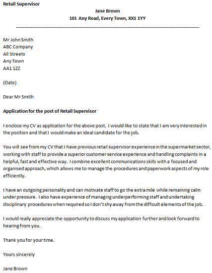 Sample Cover Letter For Retail Job Retail Sales Clerk Cover - sample cover letter for sales job
