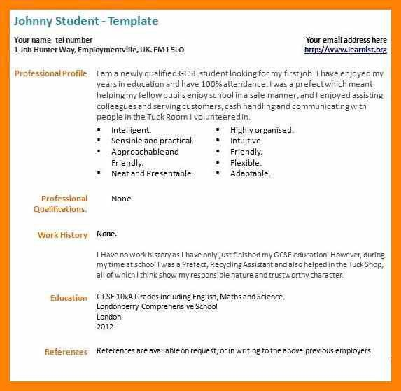 My First Resume Examples. Fashionable Design Ideas How To Write .
