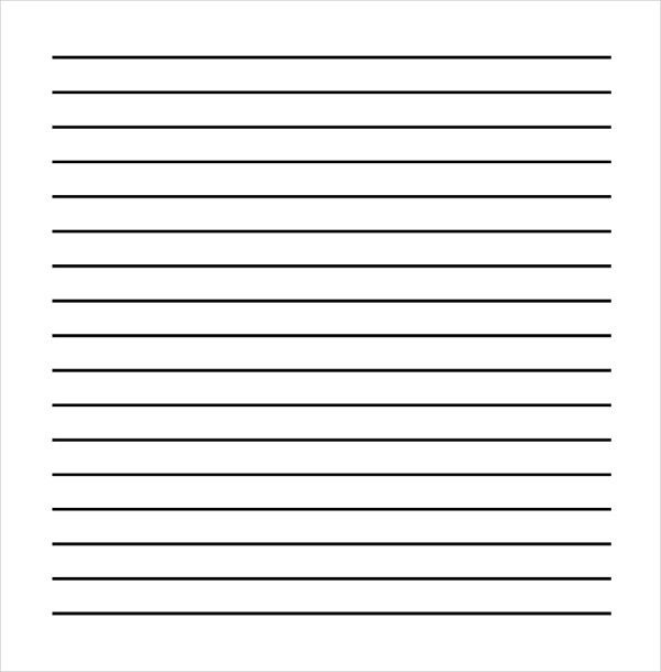 Ruled Paper Printable Lined Paper Template Free Premium Templates - sample lined paper