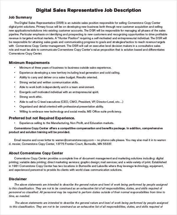 Sales Job Description retail consultant job description sales - auto sales resume