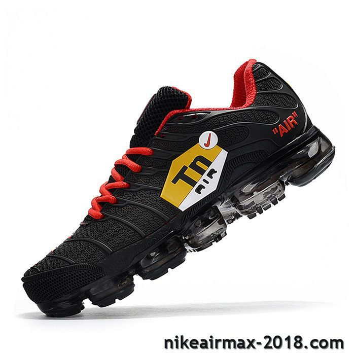 Hot Nike Air VaporMax TN KPU Mens Sneaker Black Red For Sale