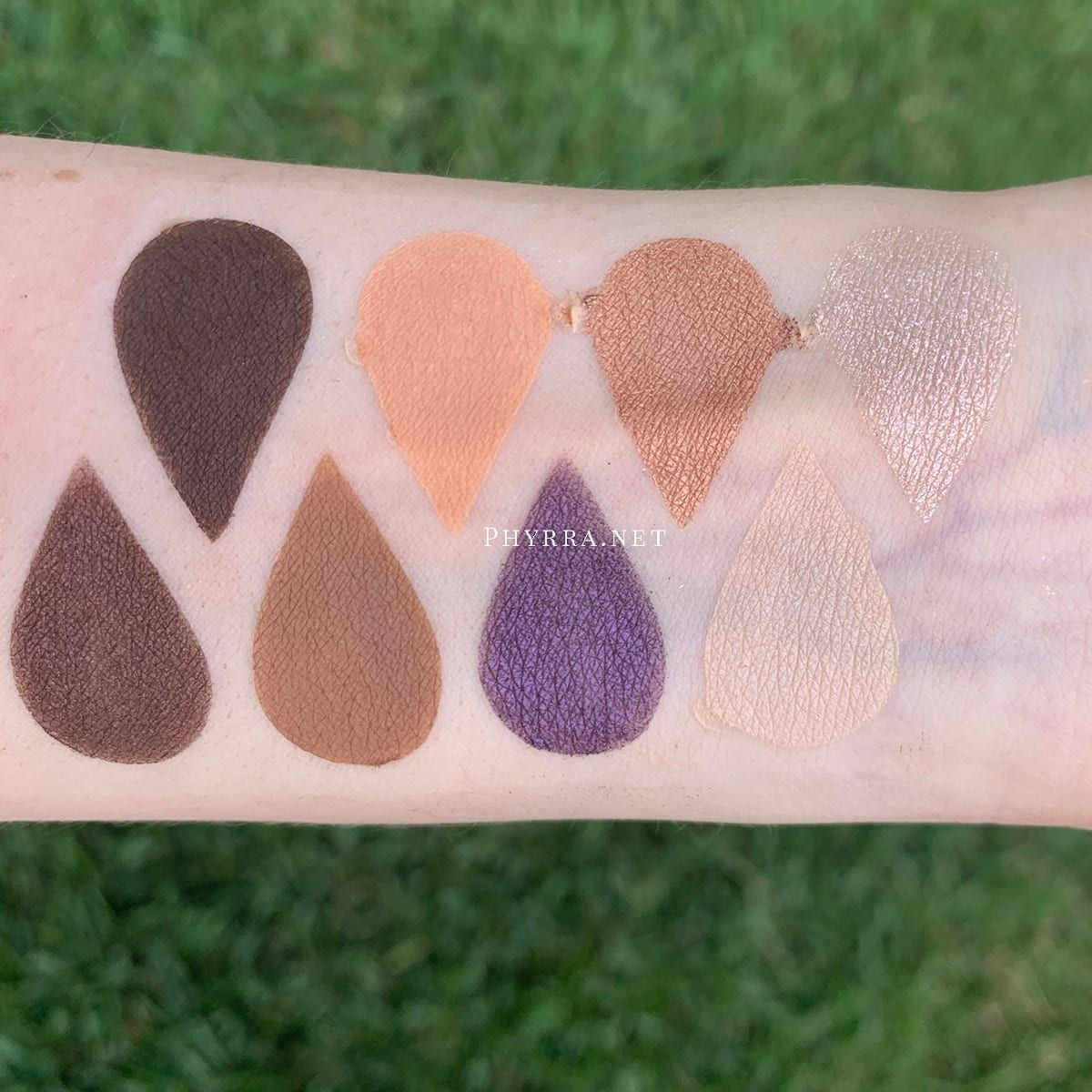 Urban Decay On the Run Bailout Mini Palette Review swatched on Fair Skin