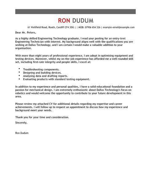 telecommunications service technician cover letter | env ...