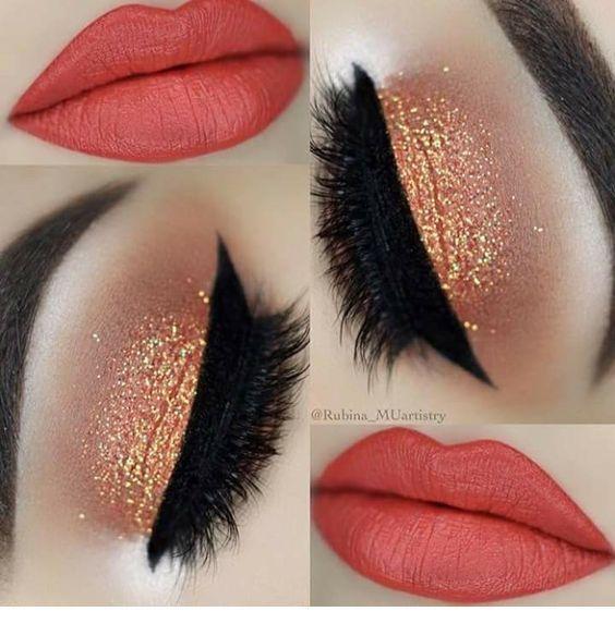 Cute coral lips