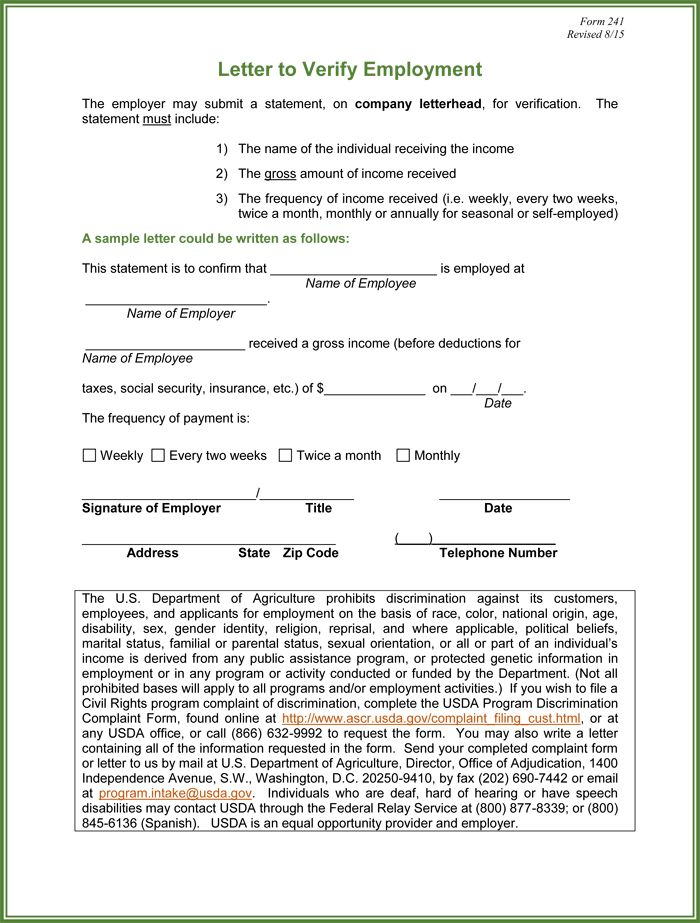 Prior Employment Verification Form Sample Employment Verification - income verification form