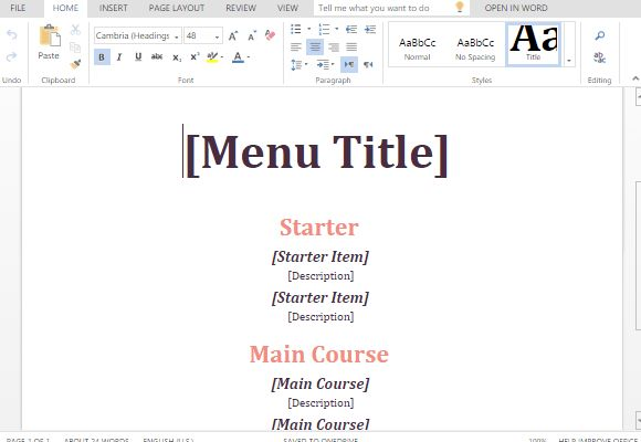 cafe menu template word node2003cvresumepaasprovidercom