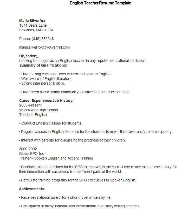 teacher biodata sample of teaching resume teacher resume samples math teacher resume