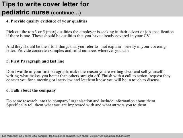 Nursing Cover Letter Example Resume Pediatric