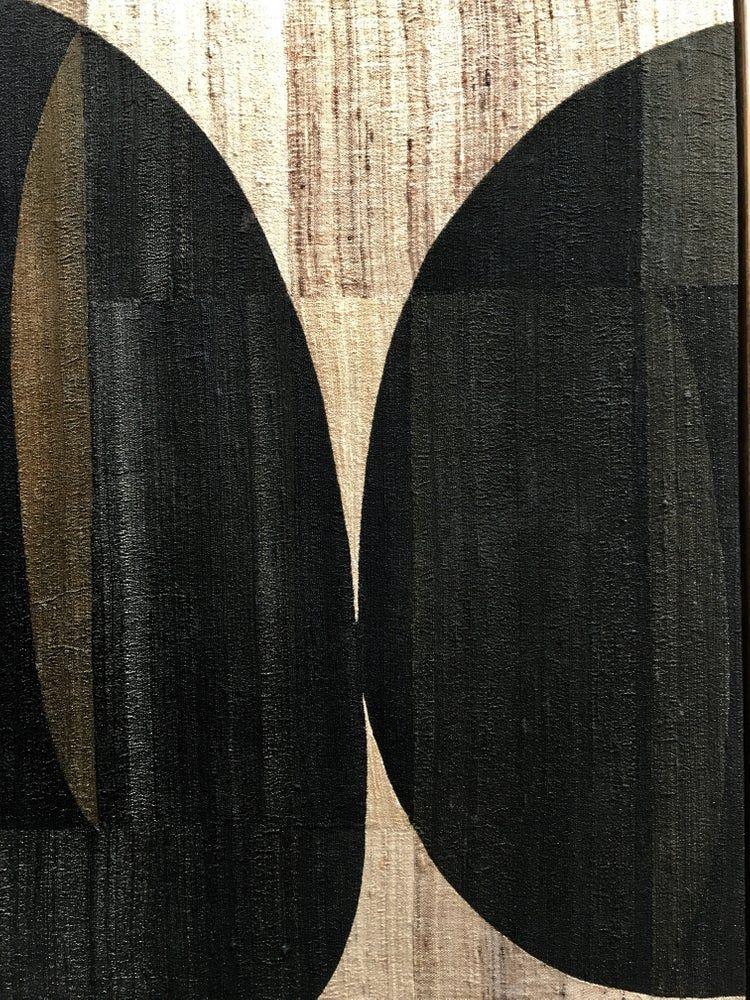 dark khadi silk composition / X+L