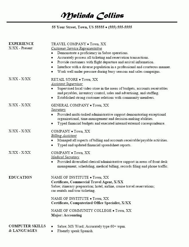Junior Travel Consultant Resume Travel Consultant Resume Samples