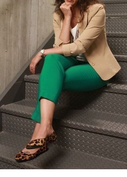 Cute look with green pants