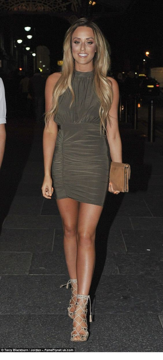 Cool olive short dress