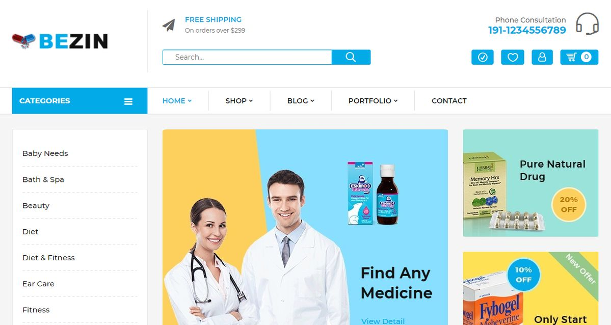1 Mg Medical Shop Like Theme