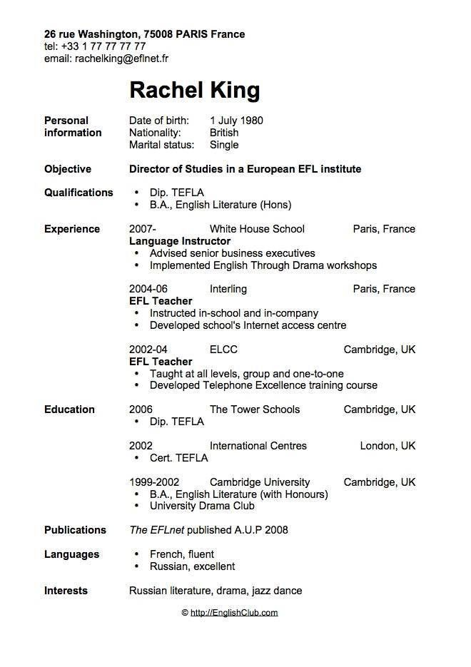 Resume Or Curriculum Vitae Samples Free Cv Template Curriculum - what is a cv resume examples