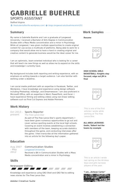 Journalism Resume Examples - Examples of Resumes