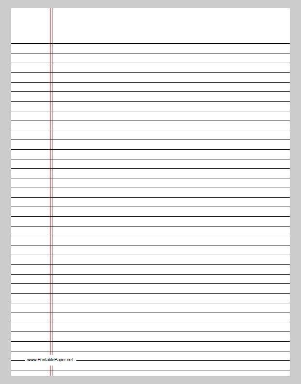 Lined Paper Printables Lined Paper Template Free Premium - lined paper pdf