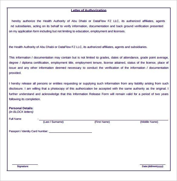 100+ Personal Information Release Form Template Personal - medical information release form