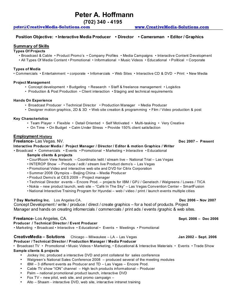 web producer resume web producer resume