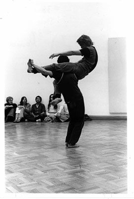 Contact improvisation: Steve Paxton and David Woodberry, 1976.