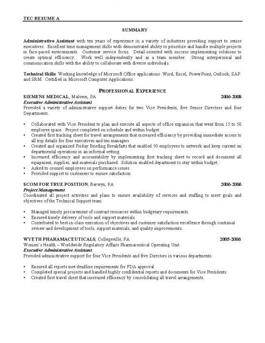canadian resume example
