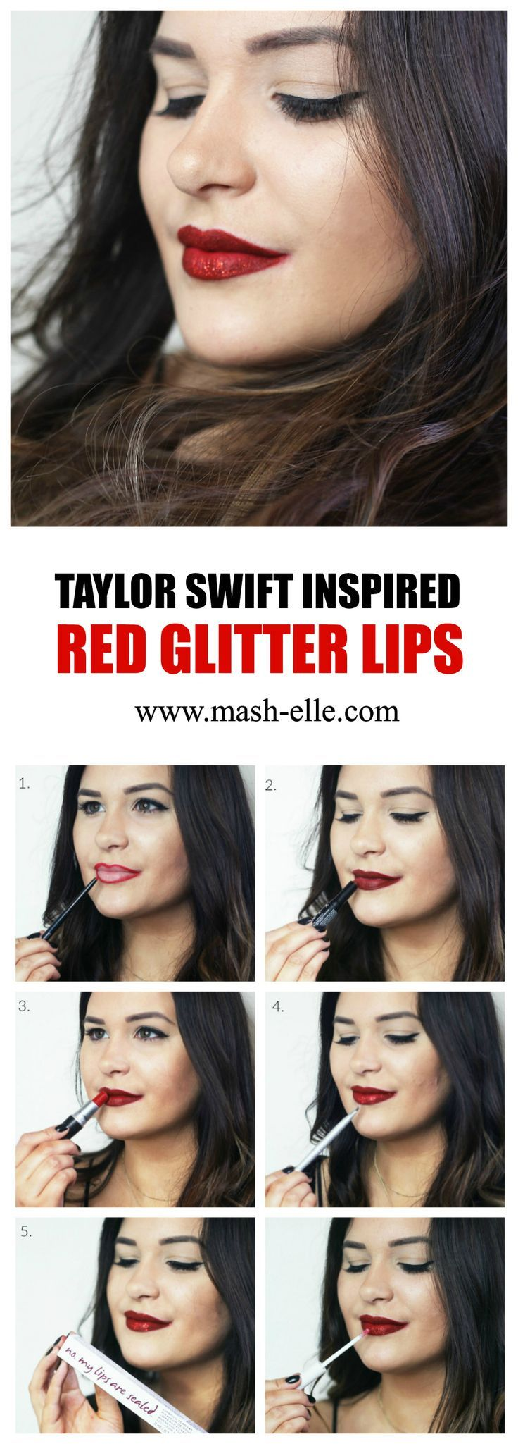 GLITTER?! Yes please. | Beauty blogger Mash Elle shares an easy red glitter lipstick makeup tutorial with @knowcosmetics! #sheKNOWSbeauty #itworksbeautifully #ad