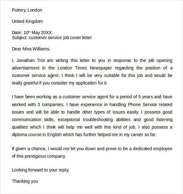 client service associate cover letter | node2003-cvresume ...