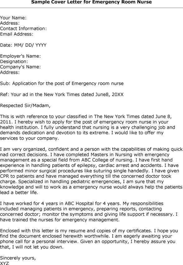 ... Emergency Room Nurse Job Description Sample Er Nurse Resume   Neurology  Nurse Cover Letter ...