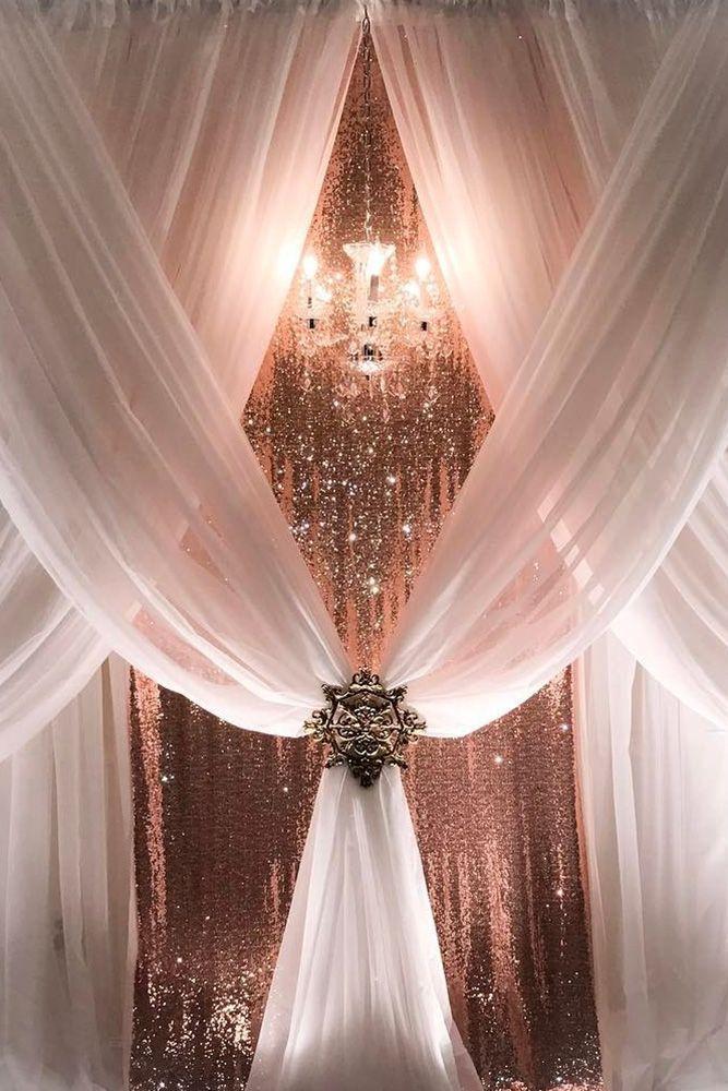 glamorous rose gold wedding ceremony ideas