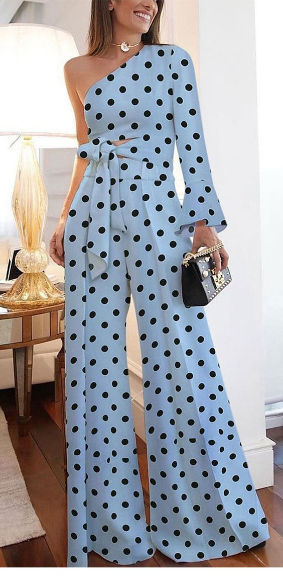 Awesome polka dot jumpsuit