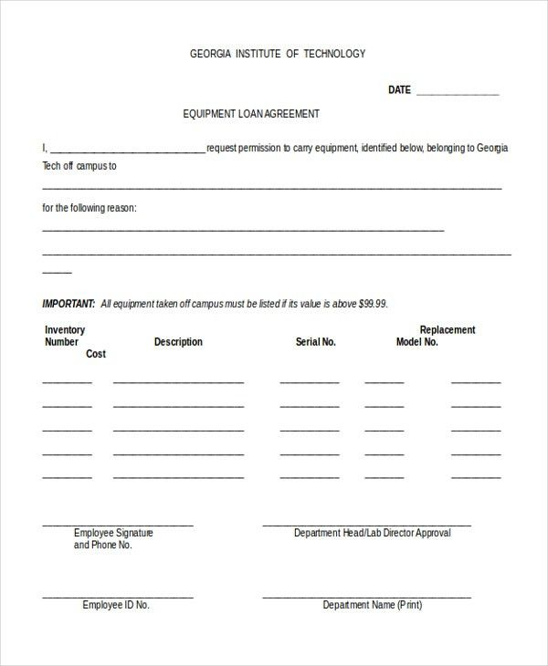 Employee Loan Agreement Template Loan Agreement Template 11 Free - agreement form sample