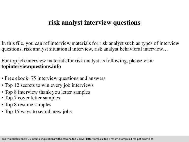 Emejing Market Risk Analyst Cover Letter Gallery - New Coloring
