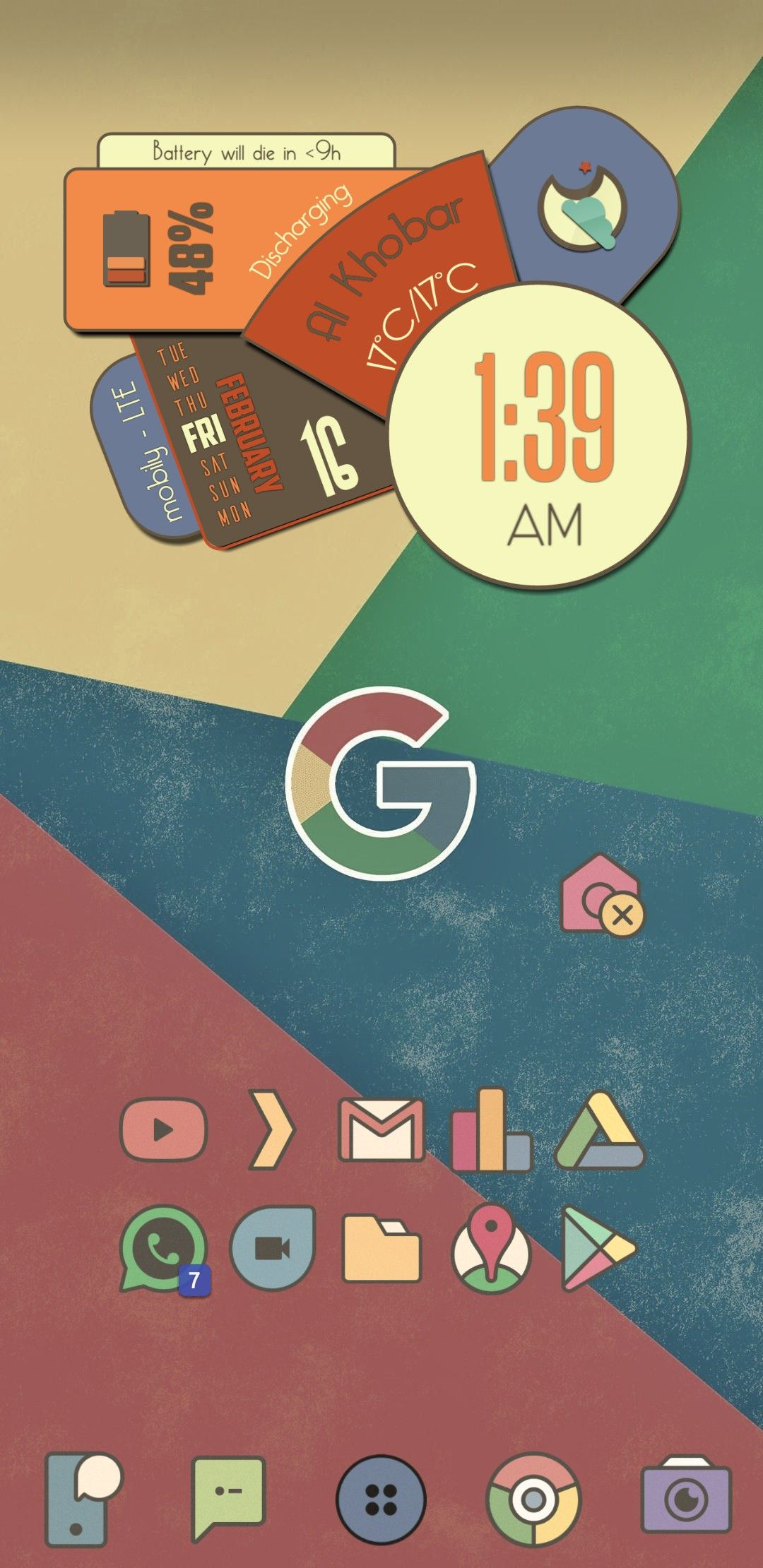 Same as the previous setup but with Mix Vintage icon pack