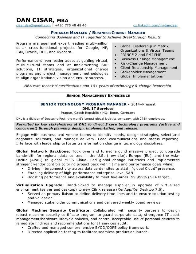 Business Change Manager Cover Letter - sarahepps -