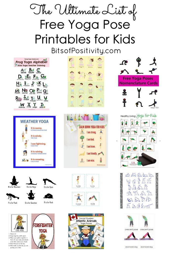 The Ultimate List of Free Yoga Pose Printables for Kids {Mindfulness Resources} - Bits of Positivity