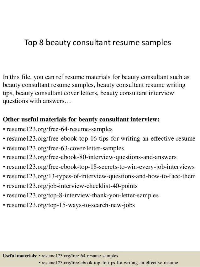 Beauty Consultant Resume Beauty Advisor Resume Samples Visualcv - beauty advisor resume