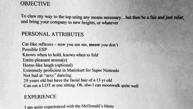 job objective in resume