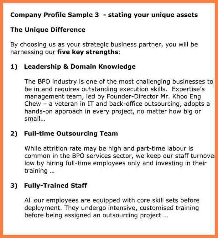 Sample Company Profile For Small Business Sample Company Profile - company profile sample