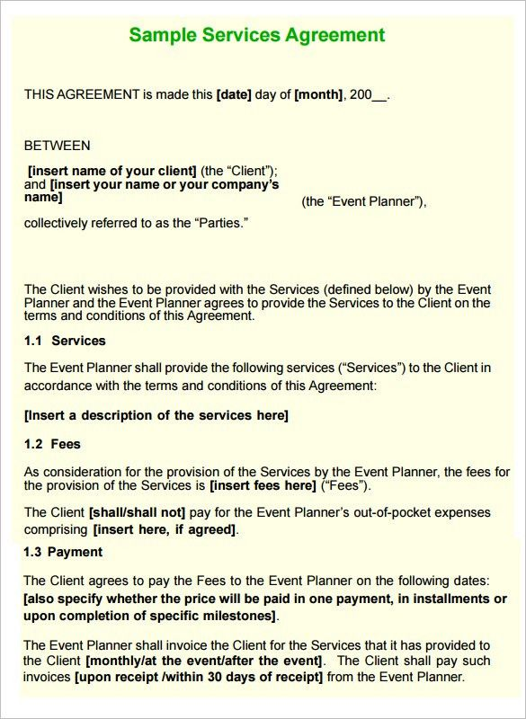 Service Contract In Pdf 35 free service agreement templates pdf – Format of Service Agreement