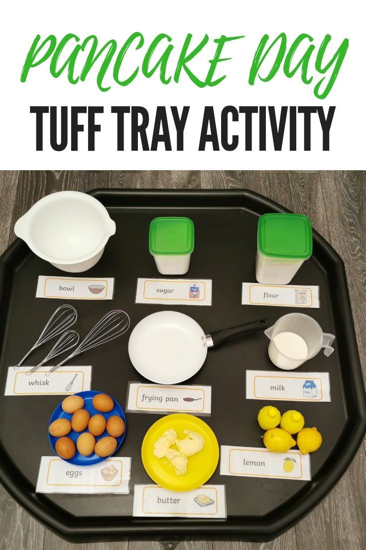 Pancake Day Tuff Tray Activity   Crazy Tots and Me