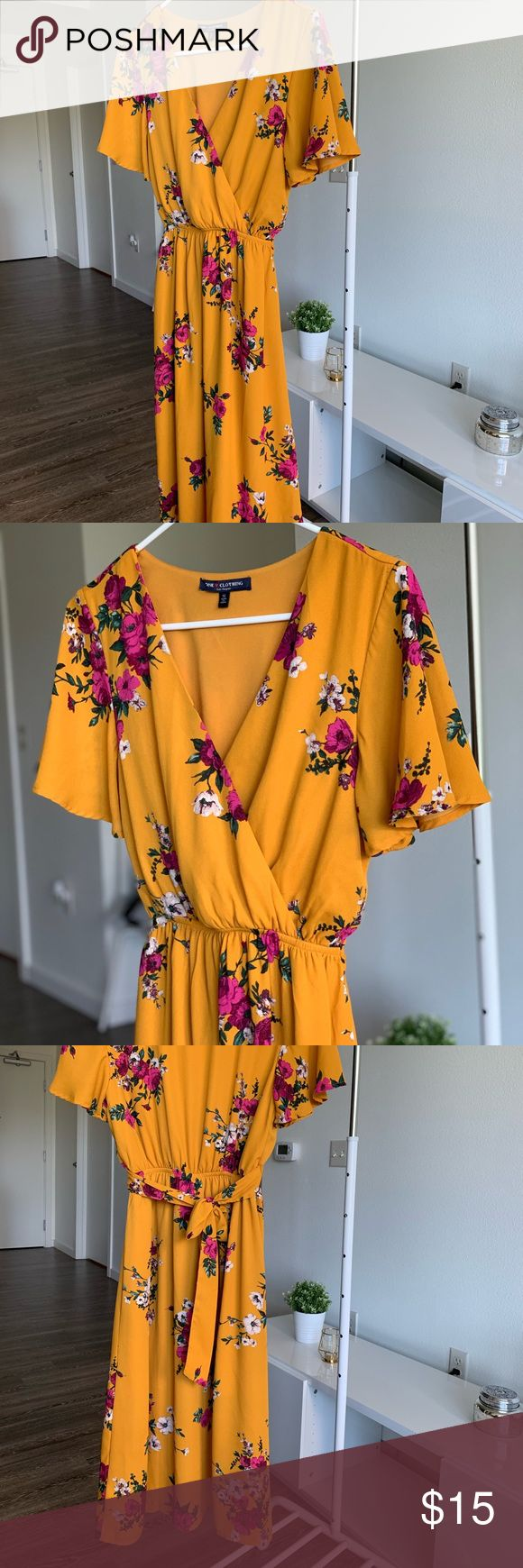 Spotted while shopping on Poshmark: Long dress, floral design! #poshmark #fashion #shopping #style #one clothing #Dresses & Skirts